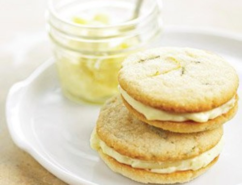 Rosemary Lemon Sandwich Cookies